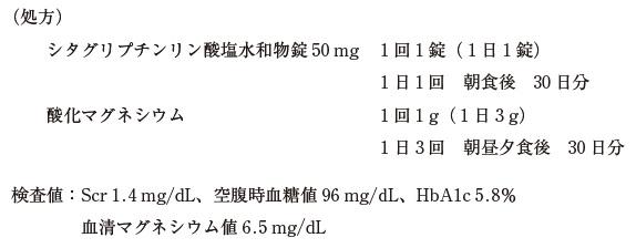 103回薬剤師試験 薬学実践問題 問200